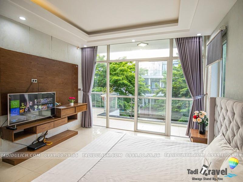 Phòng ngủ Villa FLC Sao Biển SB47 thoáng mát, sạch sẽ